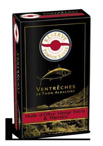 pompon-rouge-gamme-reserve-VENTRECHES-ALBACORE-HUILE-OLIVE-PIMENT