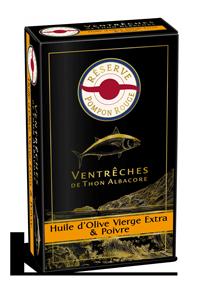pompon-rouge-reserve-gamme-VENTRECHES-ALBACORE-HUILE-OLIVE-POIVRE